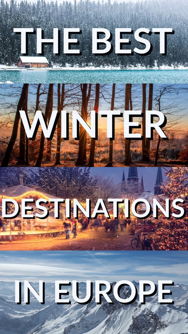 Looking for the best winter destinations in Europe? Austria, Switzerland, France, and many more all make a debut here!