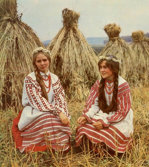 Belarusian traditional folk costumes.