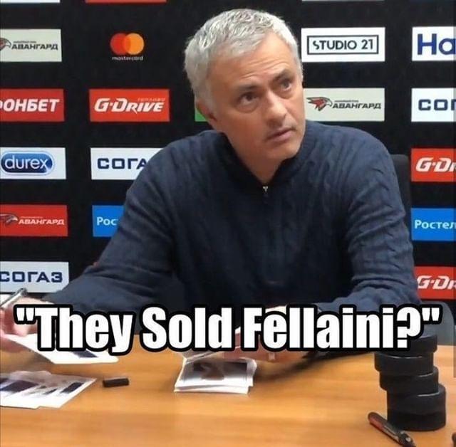 Jose Mourinho when he heard Man Utd sold Fellaini ...