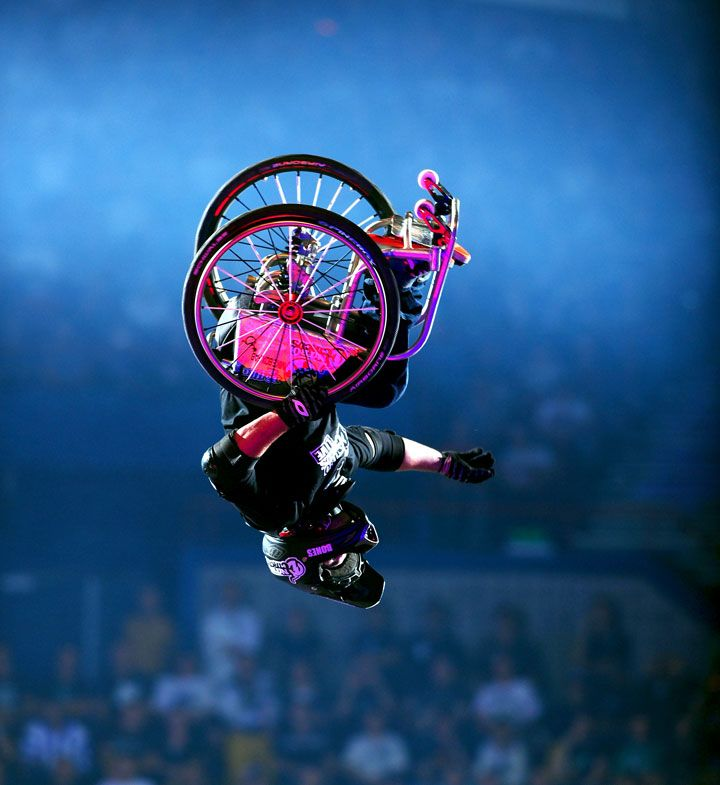 Aaron Wheelz Fotheringham Extreme Sports Wheelchair Backflip