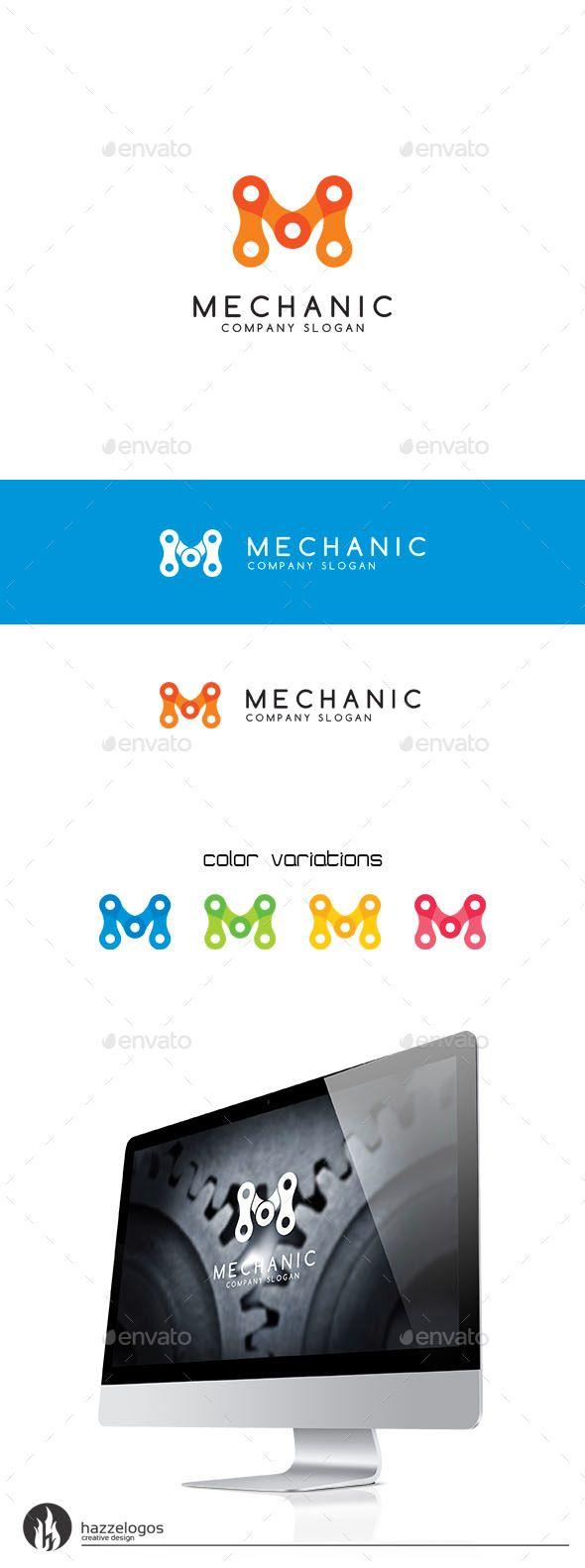So much pileup vintage pro wrestling logos - Mechanic Letter M Logo