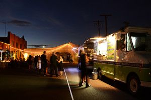 This is the White Whale Food Truck at night. Photo Credit: Eric Kenney