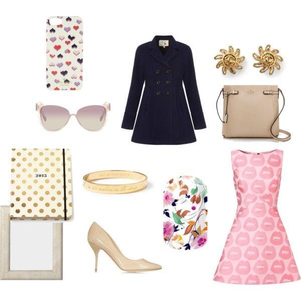 """""""Set 2...January 17th."""" by liz957 on Polyvore, bits of pink, retro, dressy styles.   Shop: http://christinesnailwraps.jamberrynails.net/product/Sunday-brunch#.VLqVPmTF8Yc"""