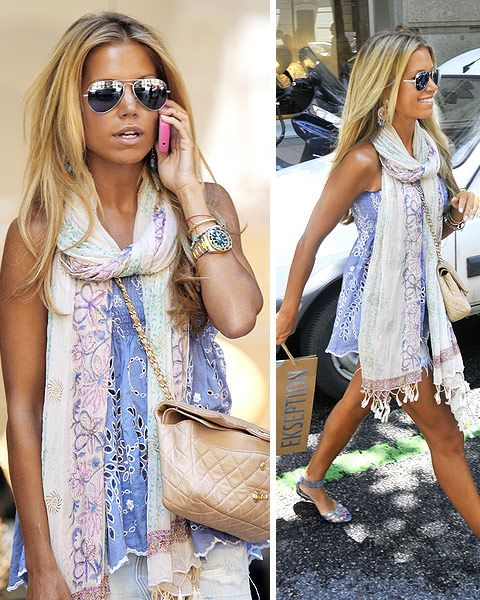 love this look: Summer Scarves, Hair Colors, Summer Looks, Der Vaart, Scarfs Style, Cute Outfits, Fashionista Closet, Cute Summer Outfits, Summer Chic
