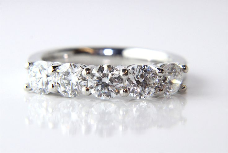 Campbell Platinum Five Diamond Eternity Ring 1.53ct from Campbell Jewellers