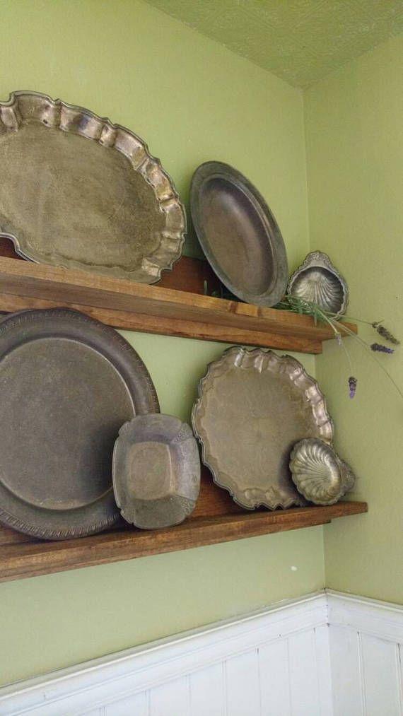 rustic-wooden-picture-ledge-shelf-rustic