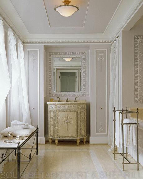 Interior designer portfolio by solis betancourt sherrill for Neoclassical bathroom designs
