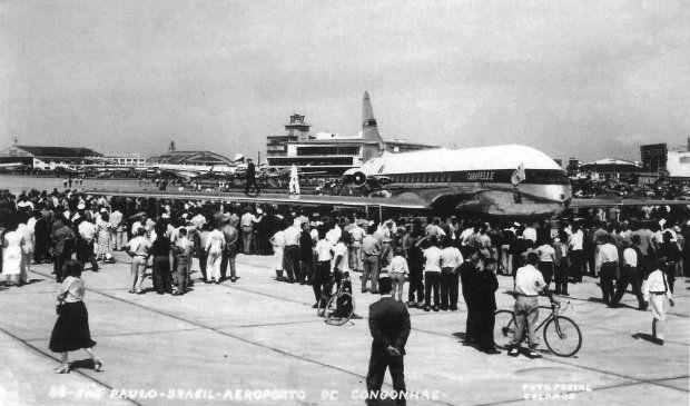 Aeroporto de Congonhas jato Caravelle