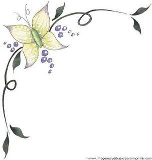 Bordes para decorar hojas-Imagenes para imprimir.Dibujos para imprimir