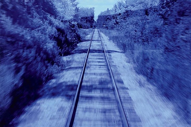 #MichaelSnow #StanDouglas and #VeraFrenkel combine to create an interlocking trio about film memory the past and trains. Terence Dick reviews the #CanadaOnScreen Installations at @tiff_net Bell Lightbox on view until August 13.  Image: Vera Frankel The Blue Train 2012 multi-channel video installation  #film #art #cdnart #canada150 #canadianart #canadianartist #artinstallation #sitespecific #trains #videoart #tiff #tiffbelllightbox #torontoart #yyzart