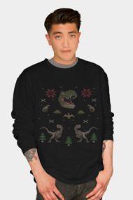 Ugly Christmas Sweater Dinosaur T Rex