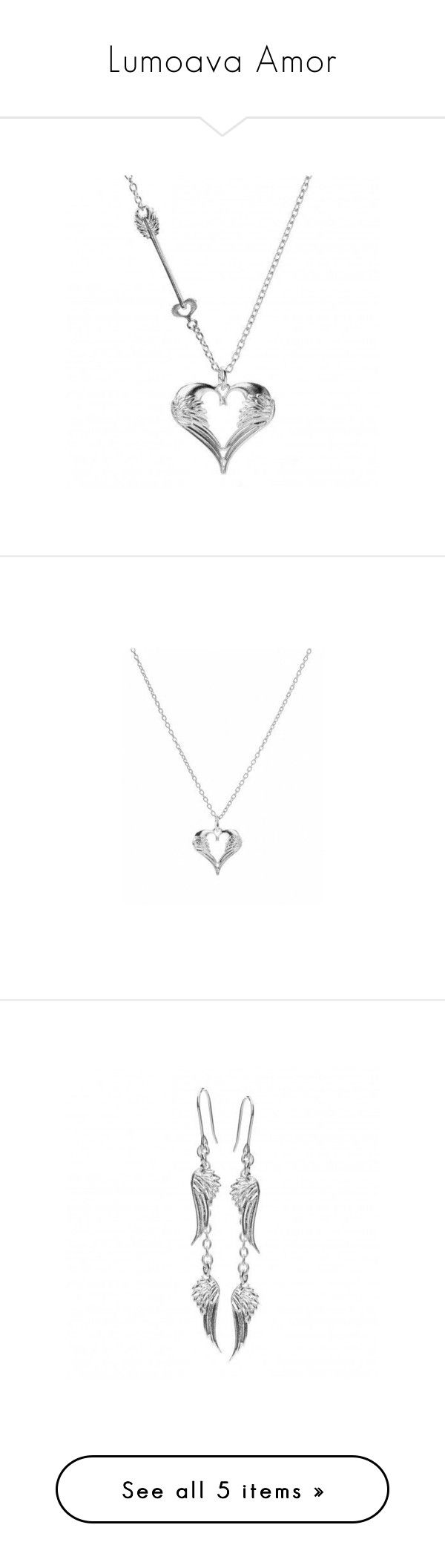 """""""Lumoava Amor"""" by blueicejewellery on Polyvore featuring jewelry, pendants, silver pendant, charm pendant, silver jewelry, pendant jewelry, silver pendant jewelry, silver jewellery, earrings and silver earrings"""
