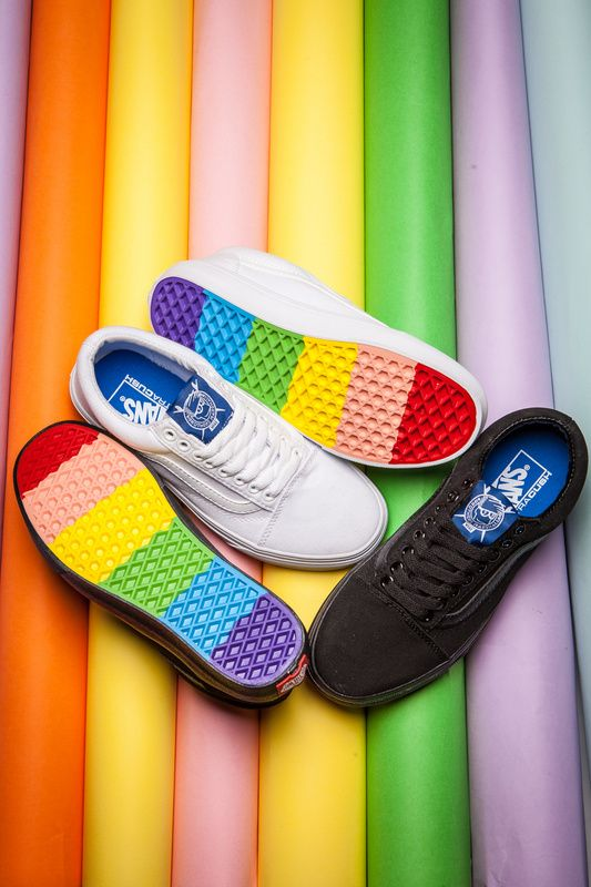 VANS X BROTHERS Marshall Rainbow Shoes Casual Shoes All Black Canvas Shoes  Model LY014 Size 35 36 37 38 39 40 41 42 43 4410  Vans af4b57d85cb1
