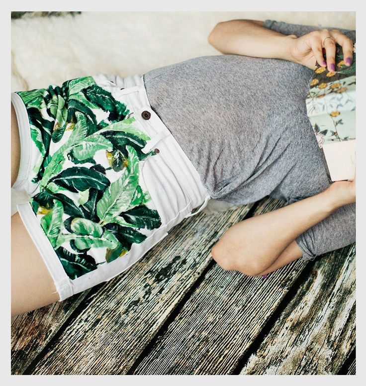 For the more artistic DIY-er, hand painted jungle jeans.: Fashion Style, Diy Denim, Diy Clothing, Denim Painting, Prints Shorts, Jeans Shorts, Jungles Gene, Denim Shorts, Diy Projects