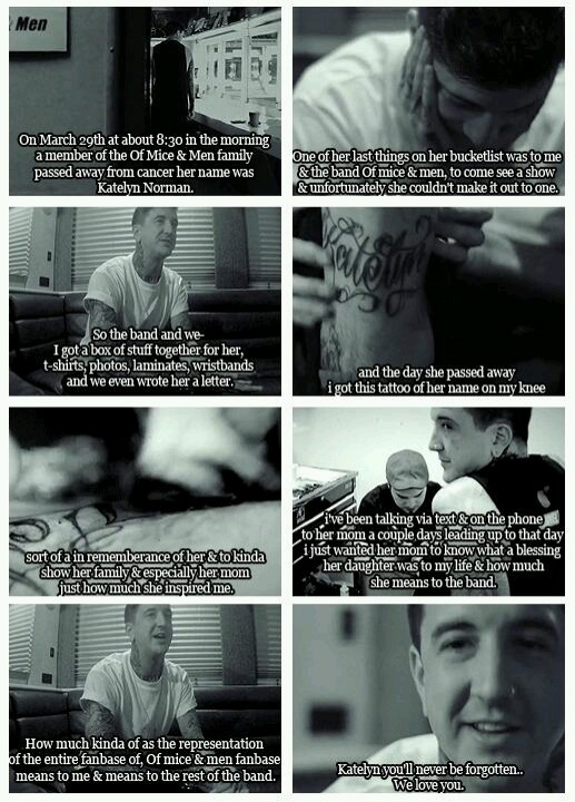 "People seriously wonder why I listen to the metal I do and why I adore so many of the various artists and ""screamers""..well here's one. His name is Austin Carlile, he's lead vocalist/screamer for the band Of Mice & Men and the most caring guy I have ever heard about<3"