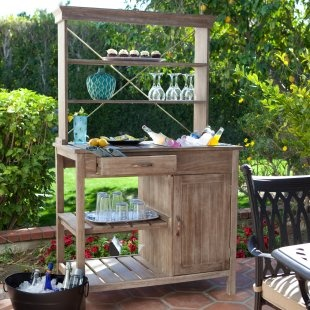 Rustic Outdoor Buffet - Driftwood Finish. This would be great for company!