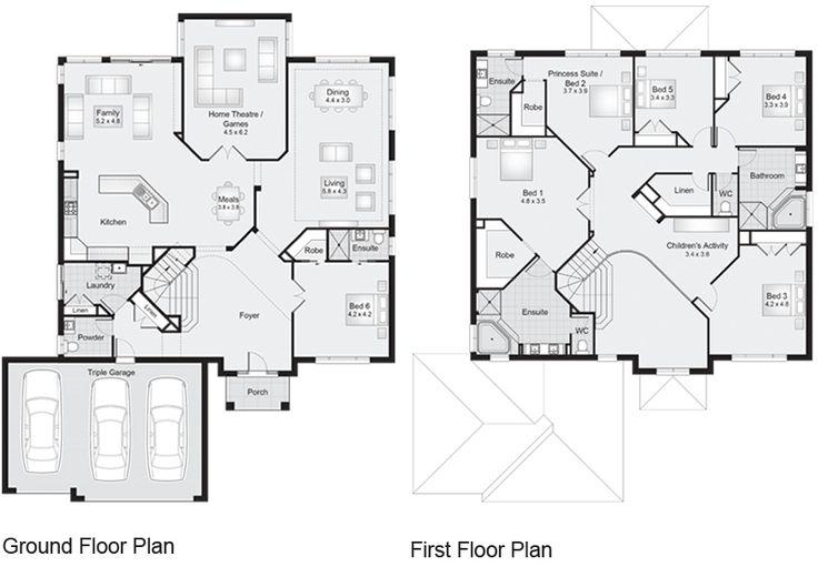 53 best home floor plans images on pinterest blueprints for Kirribilli house floor plan