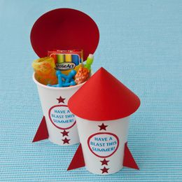 Rockin' Rocket Favors Give your child's classmates a super send-off with these party favors filled with sweets or other swag.