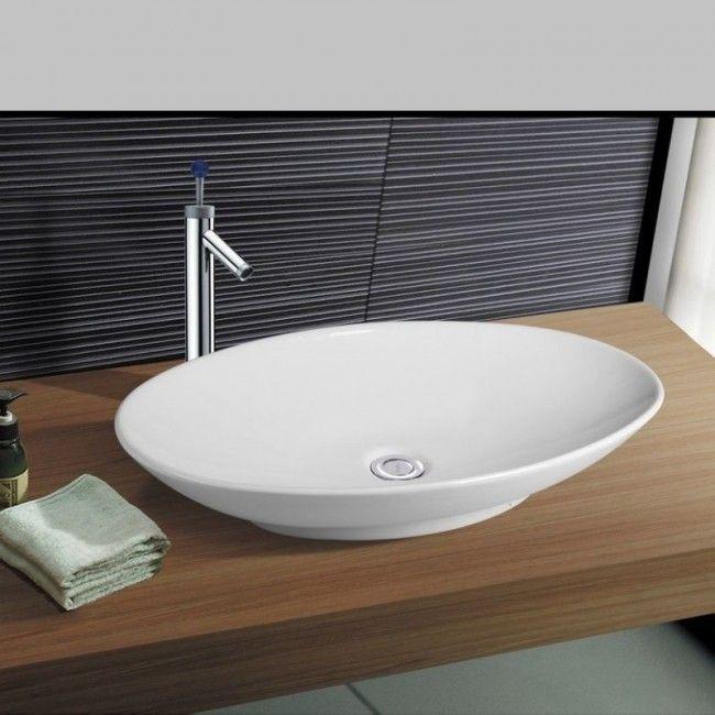 NEG Waschbecken Uno33A (groß/oval), Aufsatz-Waschschale/Waschtisch mit flachem Rand und Nano-Beschichtung-83143303