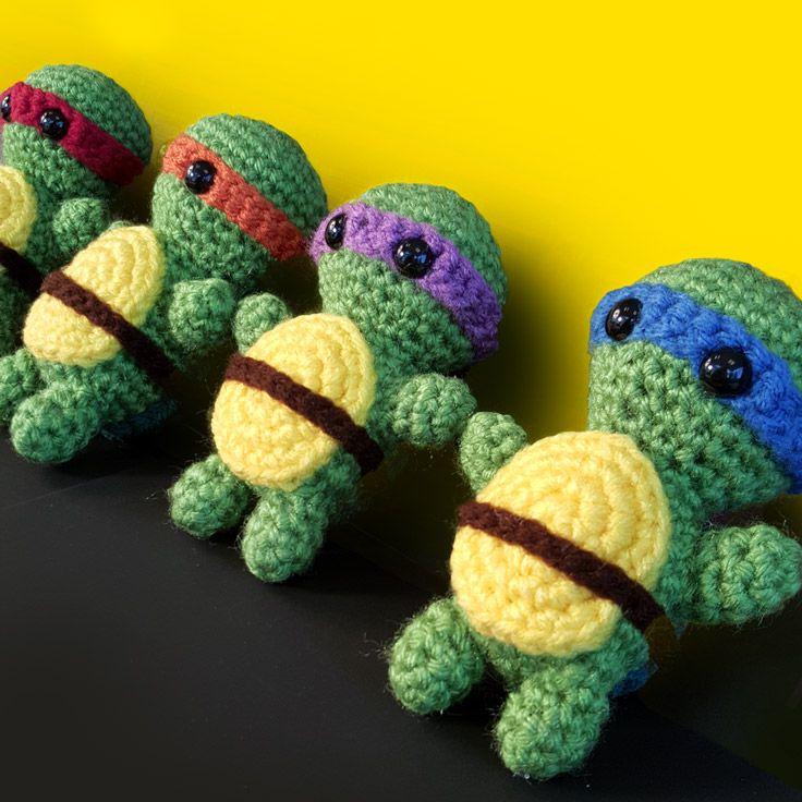Teenage Mutant Ninja Turtles Amigurumi Crochet Pattern