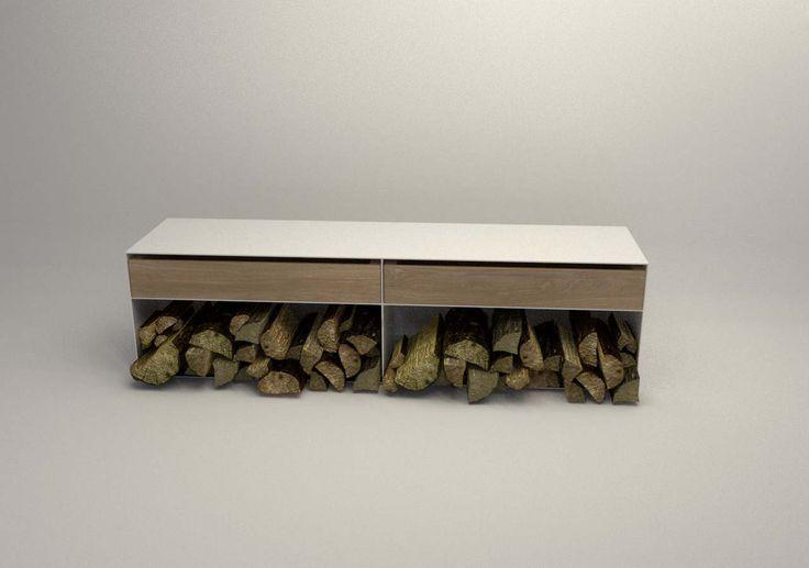 Design Metallmoebel Brennholz-Aufbewahrung Kaminholz-Regal aus