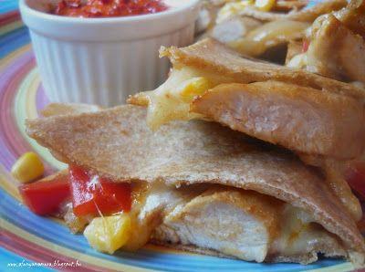 Az áfonya mámora: Quesadilla házi tortillából, chilis sült paprikakr...