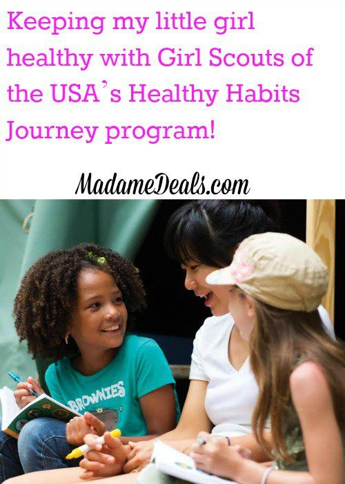 Keeping my little girl healthy with Girl Scouts of the USA's Healthy Habits Journey program via @madamedeals