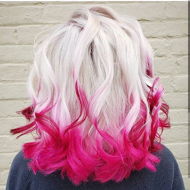 Give A Nice Twist To Your Hair By Dipping It Into Pink By Jessysilvahair Besthairtutorial Is Now Todyefor Hair Styles Pink Hair Highlights Bold Hair Color