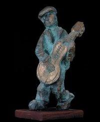 Guitarist * Ghitaarspeler - Bronze - Father Frans Claerhout