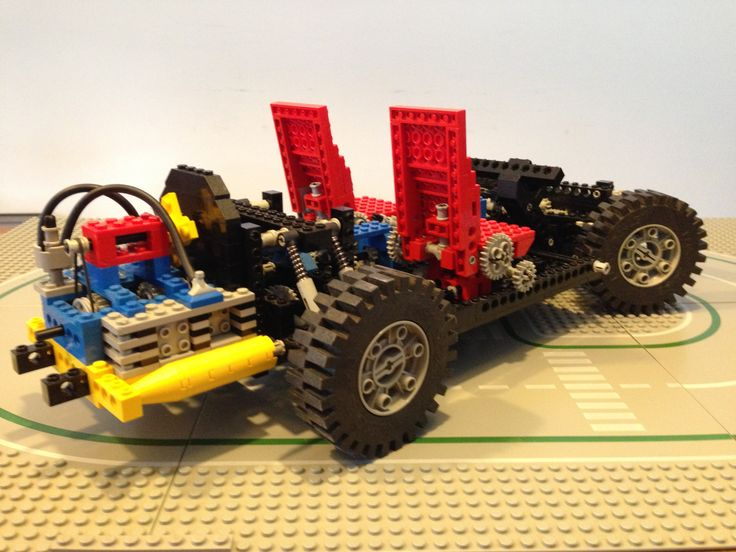 Technic set 8860. Much more elaborate than its predecessor 853. Including working suspension and boxer motor.