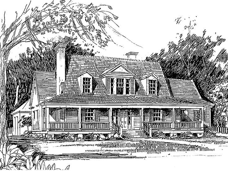 Farmhouse House Plan with 2242 Square Feet and 3 Bedrooms(s) from Dream Home Source | House Plan Code DHSW55874