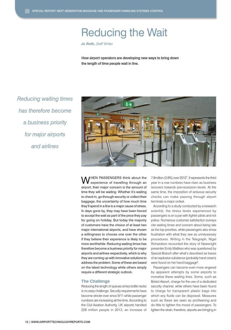 #ClippedOnIssuu from Airport Technology Reports – Next Generation Baggage and Passenger Handling Systems Control