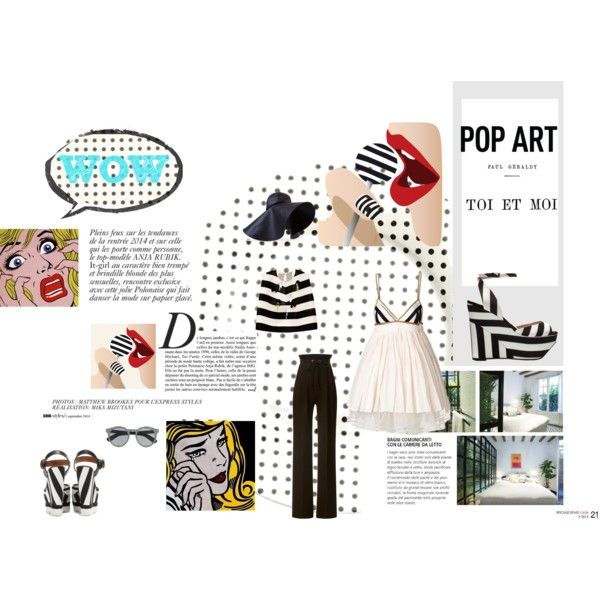 wow Pop by ljdia on Polyvore featuring polyvore fashion style Delpozo Rodarte Zara Dolce&Gabbana J.W. Anderson Illesteva Fitz and Floyd Anja Alexander McQueen stripes Wedges sandals