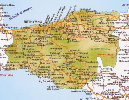 Rethymno Map