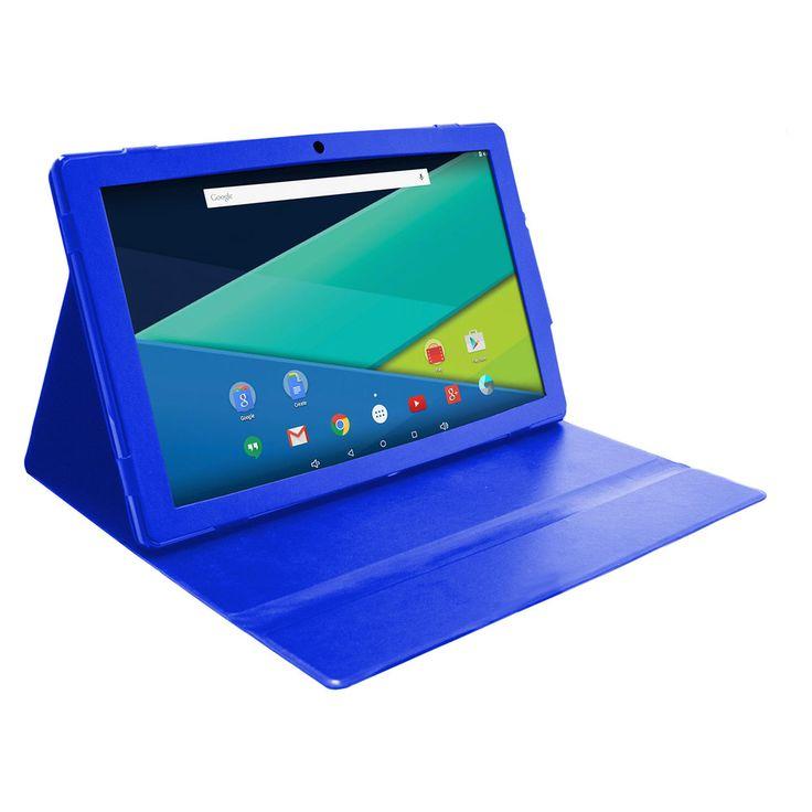 Visual Land Prestige Elite 13Q Quad Core 64GB 13.3-Inch Android 5 Lollipop Tablet with Profolio Case (ME13QTC64MAG), Blue