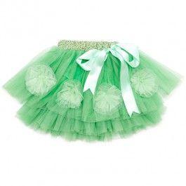 Saskia Green Petal Skirt from Oobi