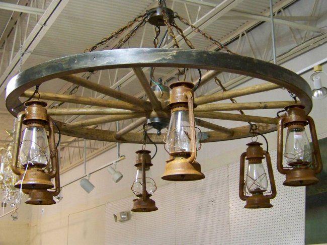 wagon wheel chandelier - Google Search