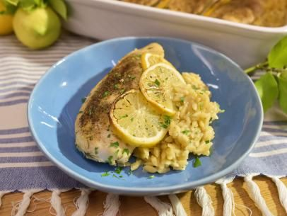 Greek Lemon Chicken and Orzo Casserole Recipe   Jeff Mauro   Food Network
