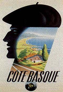 Vintage Cote Basque France Giclee Art Print