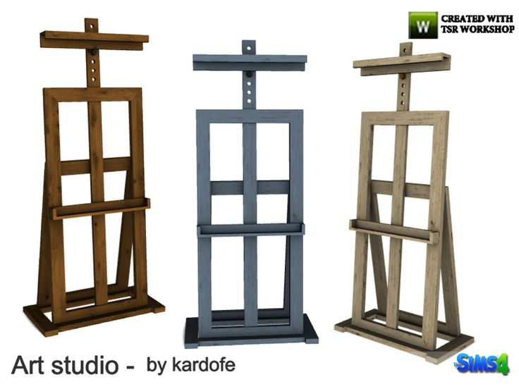 Easel, in three different textures Found in TSR Category 'Sims 4 Hobbies & S…