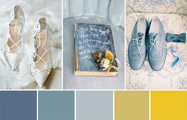 Déco de mariage bleu, vert et jaune - http://www.mariageenvogue.fr/blog/index/billet/10842_decoration-mariage-bleu-jaune-chic #wedding
