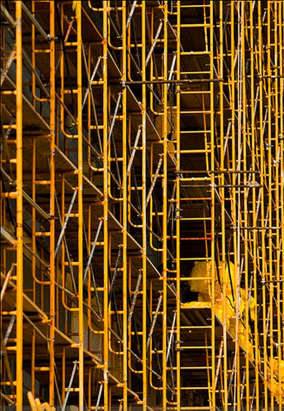 yellow scaffold | patternity
