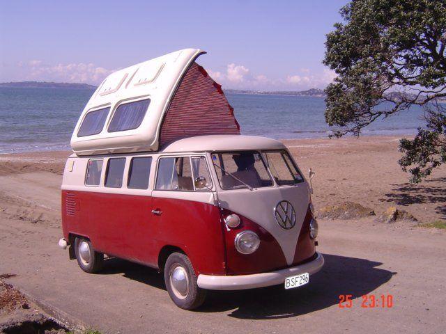 Someday we WILL do this!  VW Camper Vans, Kombi Campervan Hire, Vanagon Camper Rentals in New Zealand
