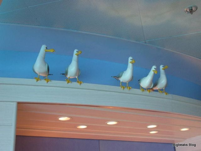 Perched seagulls - Finding Nemo