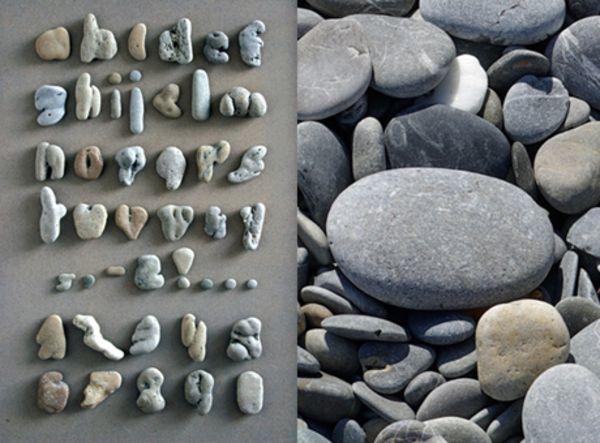 Rock Alphabet Art