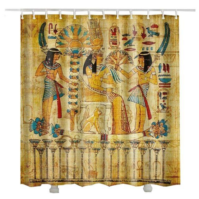 Egypt Pharaoh Shower Curtain Waterproof 2017 New Design Hot Sale