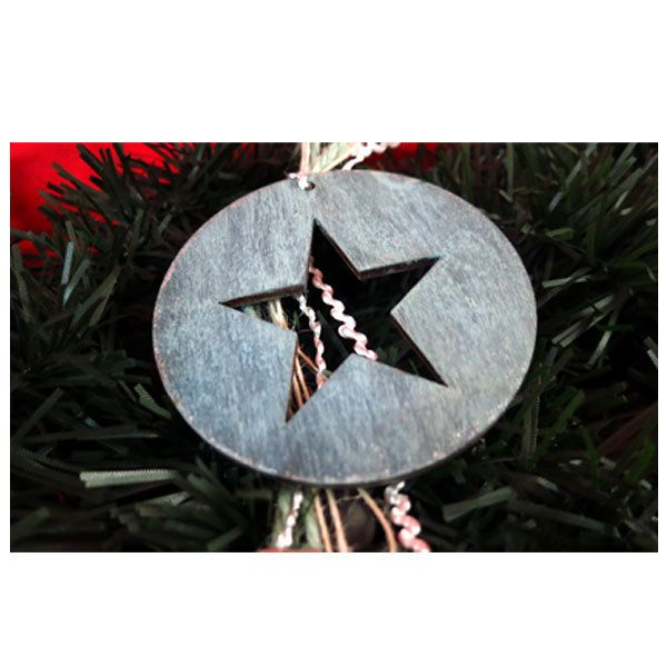 Shabby chic Christmas ornament. Christmas star. Christmas tree decor. Holiday decoration. Handmade creations. by UniqueJeweleryDeco on Etsy