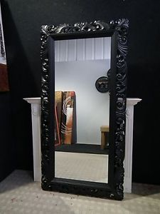6ft X 3ft Large Black Carved Shabby Chic Ornate Big Wall