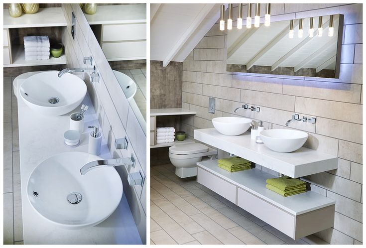 Twin sit-on basins combine luxury and convenience #bathroomfurniture