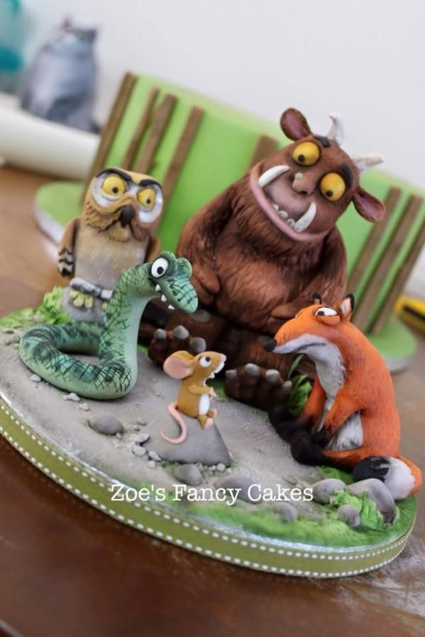 Gruffalo cake and cupcakes - Cake by Zoe's Fancy Cakes